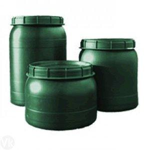 Voerton met draaideksel, 60 liter groen